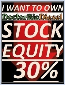 I want to own Dr.BioDiesel stock equity 30%