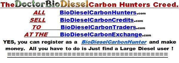 Register as BioDiesel Carbon Hunter and Make Money