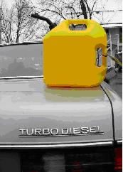 Fuel can with BioGREEiesel or BioDiesel