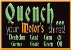 Quench your motor's thirst!  Logo